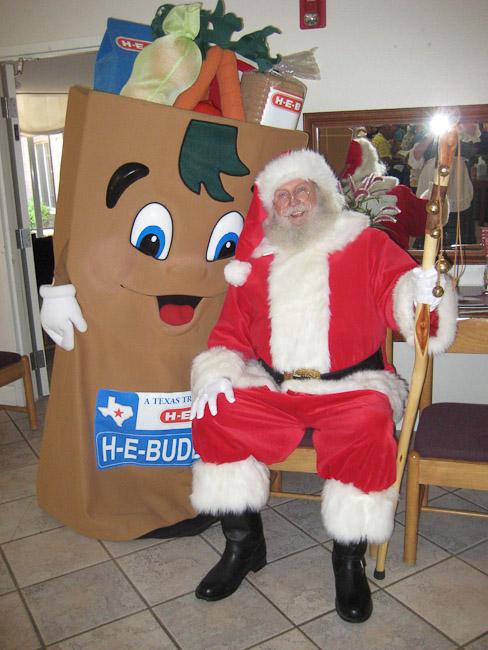 Santa and HEB's Buddy