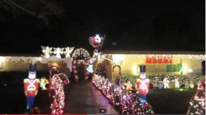 Video of our Christmas 2013 Winning Yard Display