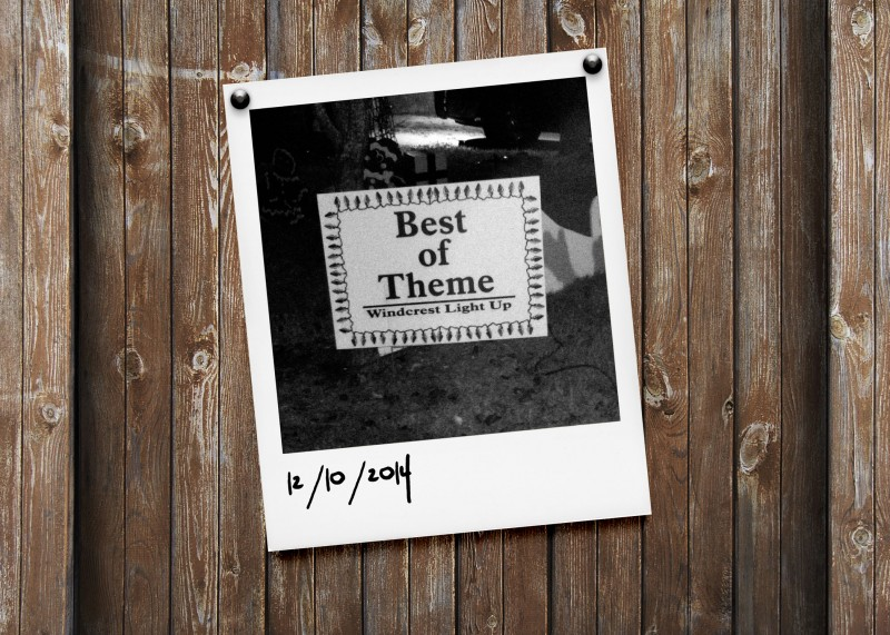 Best of Theme sign - Windcrest Light Up 2014